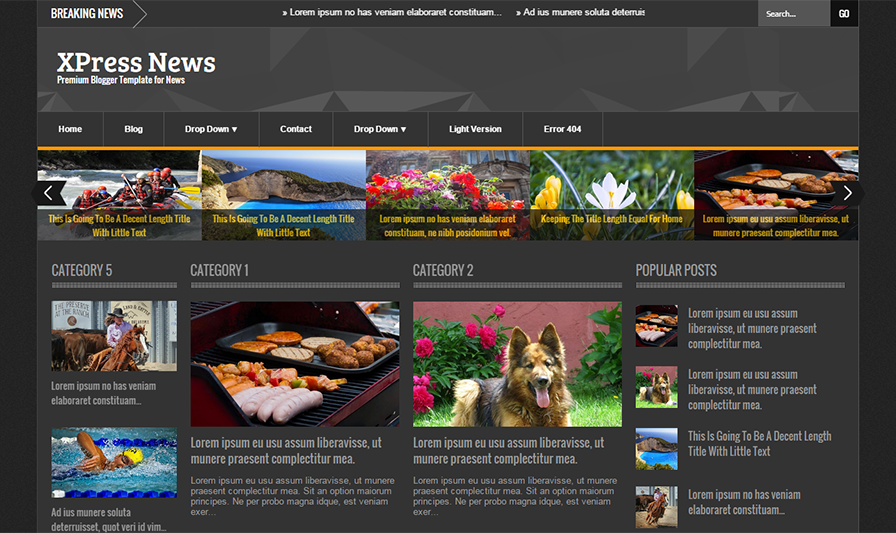 Responsive Blogger Template For Magazine With JQuery Slider