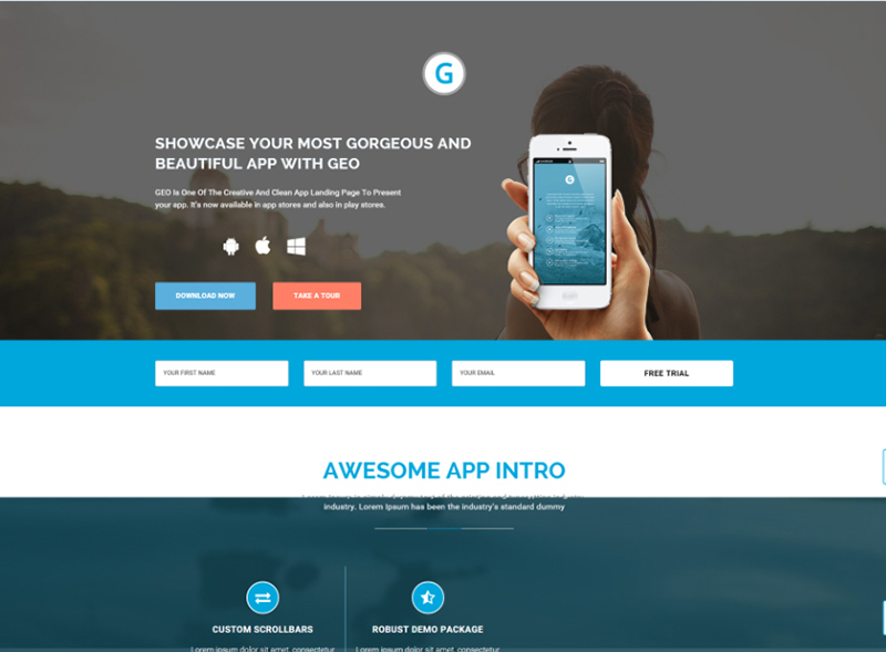 Responsive Bootstrap 3 App Landing Page Template