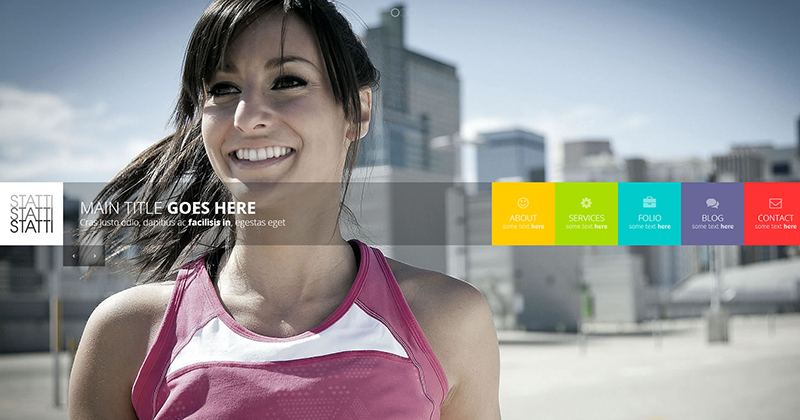 Responsive Bootstrap Animated Template