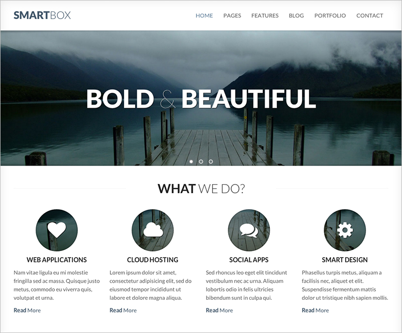Responsive Bootstrap HTML Template