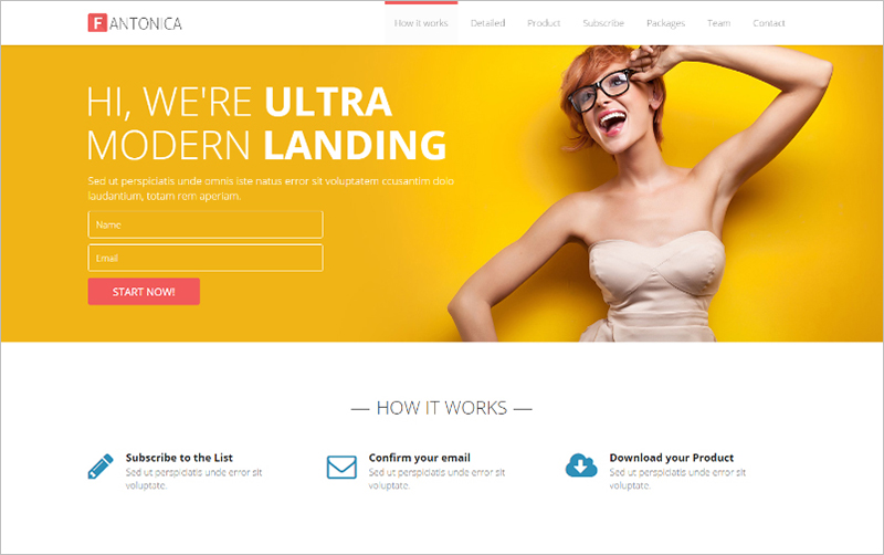 Responsive Bootstrap HTML5 Landing Page