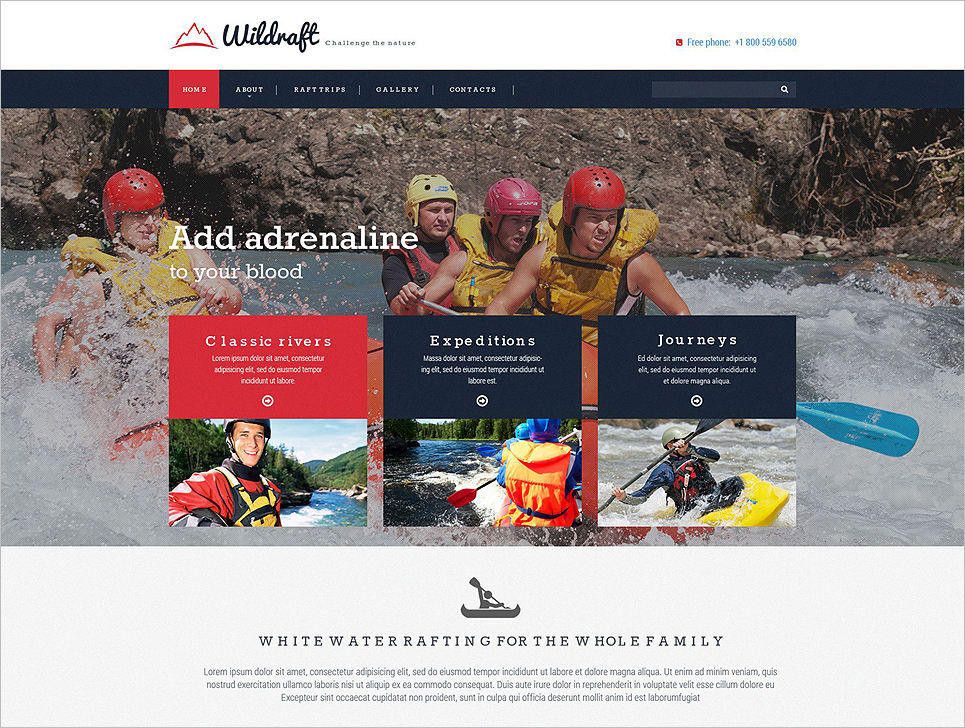 Responsive Bootstrap Website Template for Nature