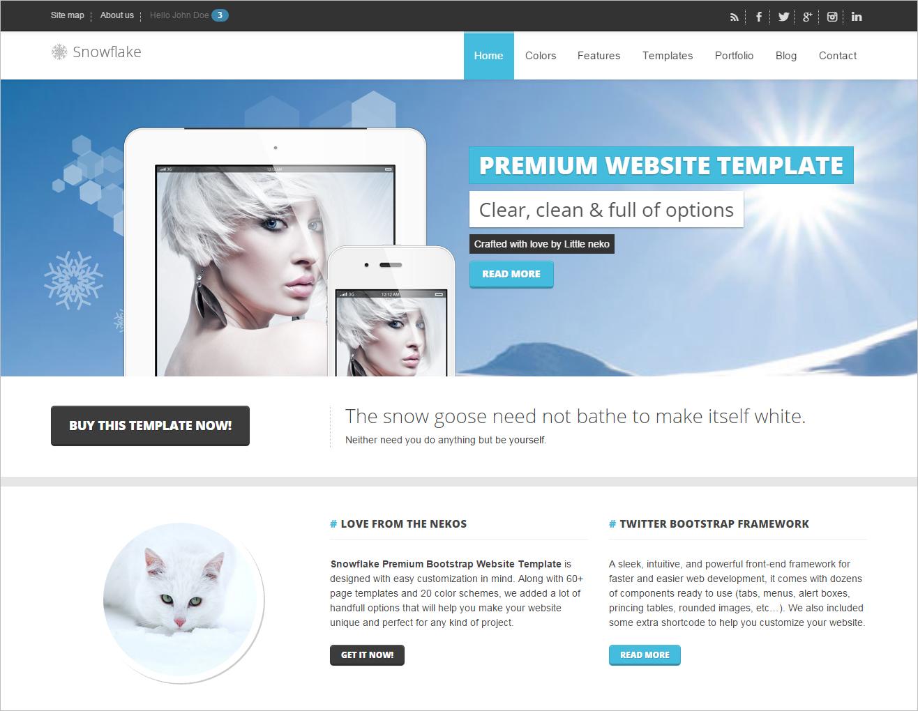 Responsive Bootstrap Website Template
