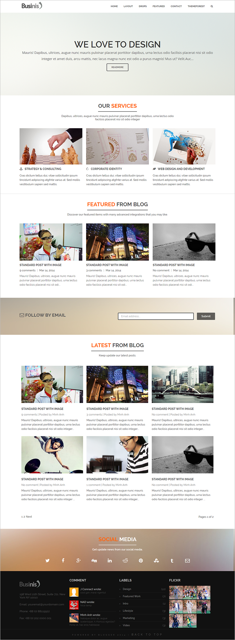 Responsive Business Blogger Template