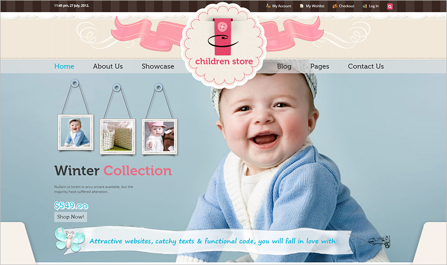 Responsive Children Store Ecommerce HTML5 Theme