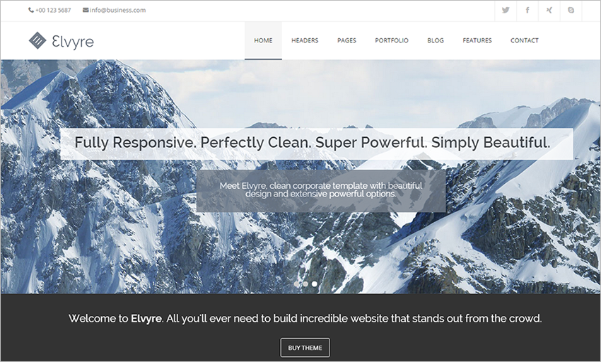 Responsive Drupal Corporate Theme