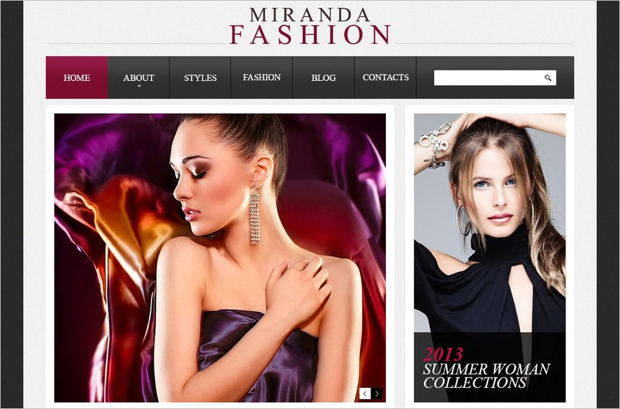 Responsive Drupal Fashion Template