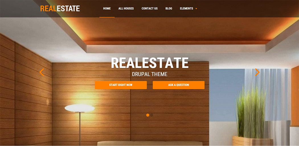 Responsive Drupal RealEstate Template