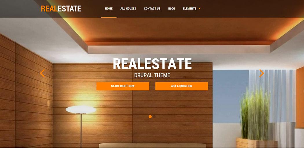 Responsive Drupal RealEstate Template