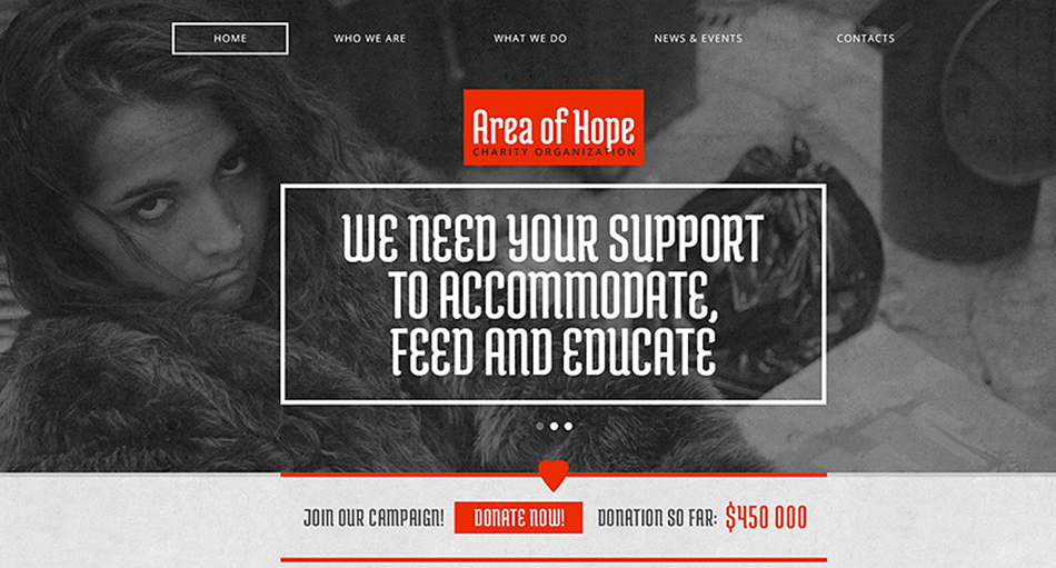 Responsive Drupal Template For Charity WebSite