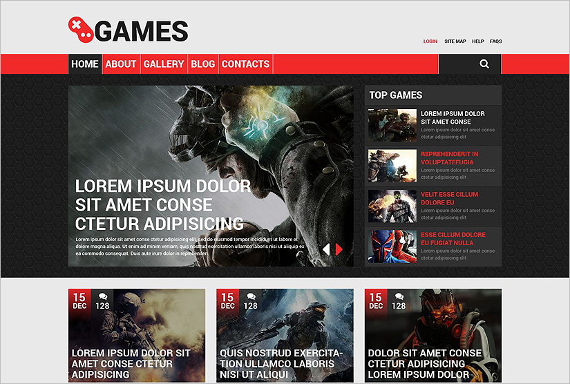 Responsive Drupal Template For Game Portal