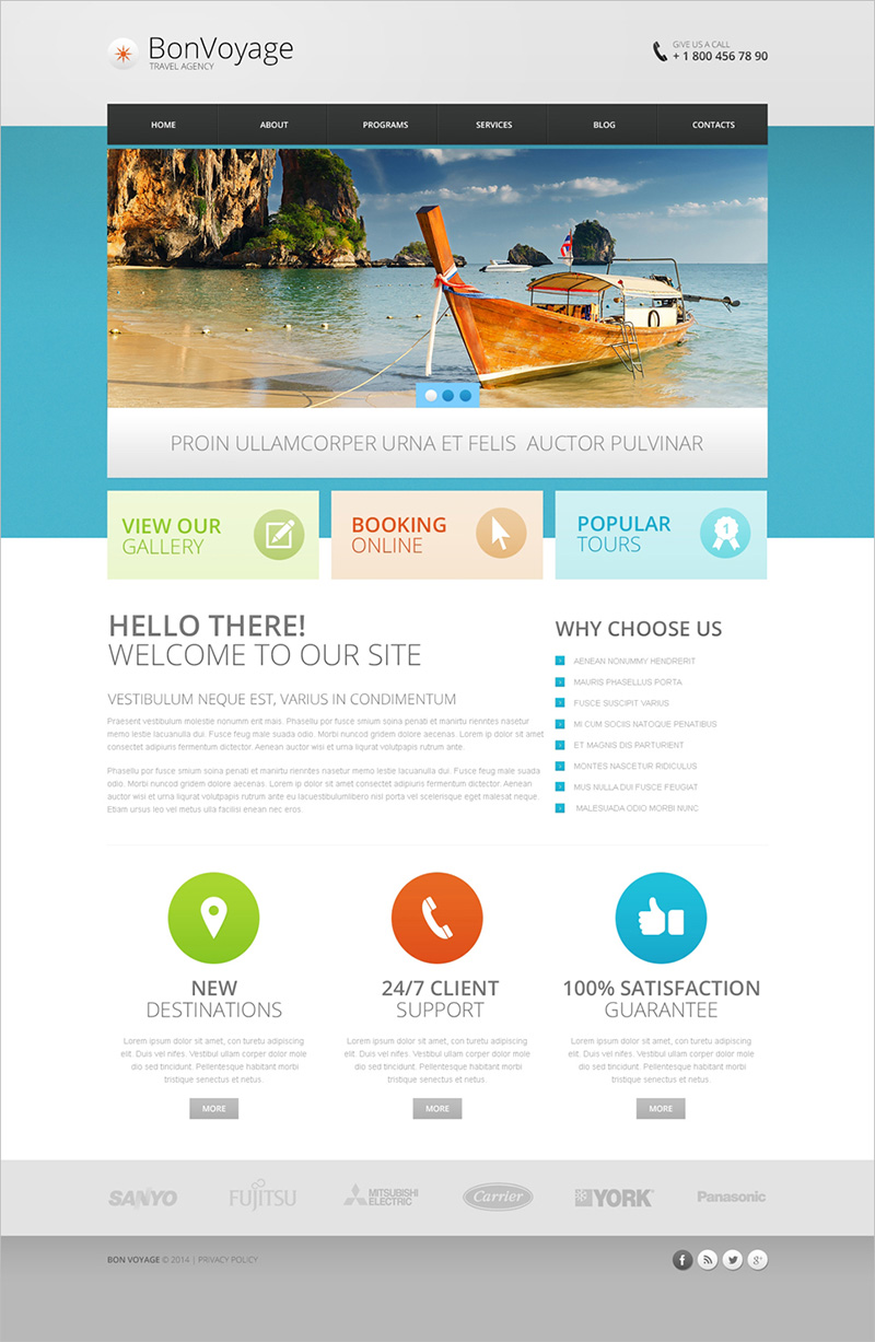 Responsive Drupal Template for Travel