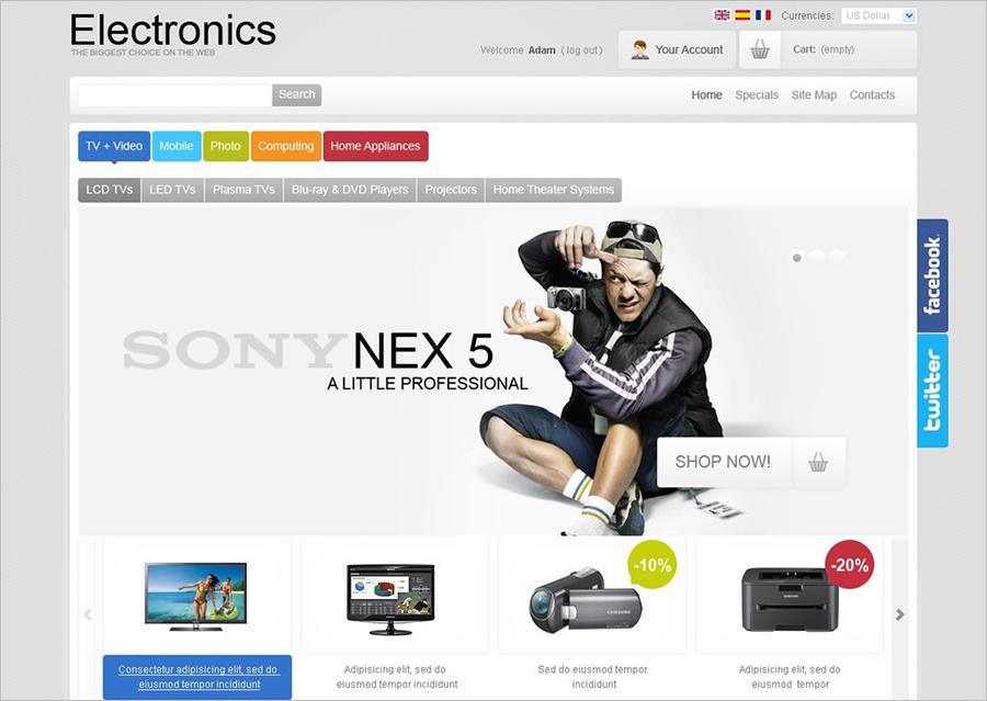 Responsive Electronics Store PrestaShop Theme