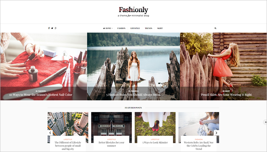 Responsive Fashion Blog WordPress Theme
