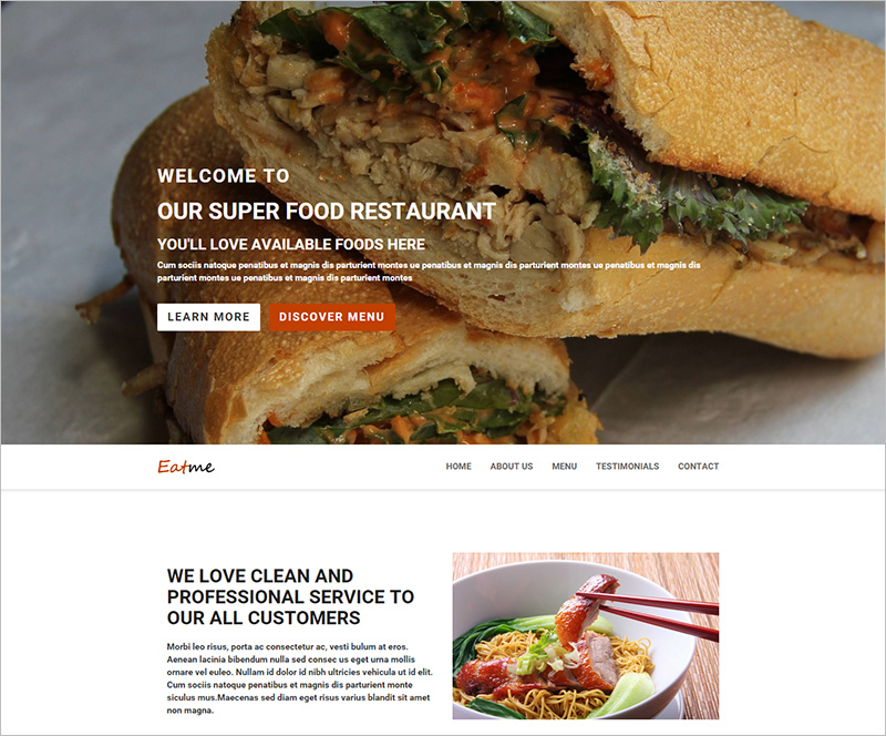 Responsive Food HTML Template