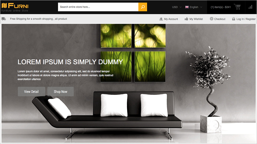 Responsive Furniture Magento Theme