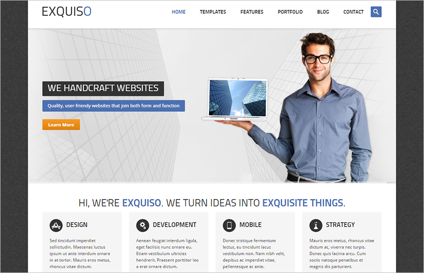 Responsive HTML & PHP Template