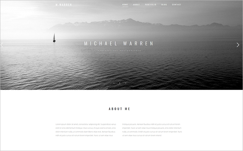 Responsive HTML Photo e-Commerce Website Template
