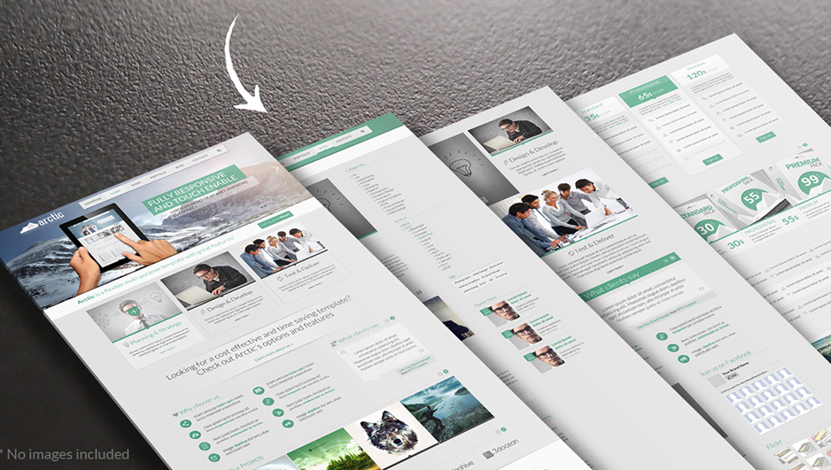Responsive HTML5 Business Template With Multi Color Option