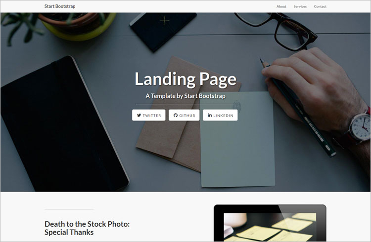 Bootstrap Landing Page Free Template