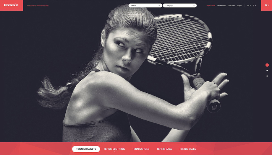 Responsive Magento Theme For Sport-Related Web Stores