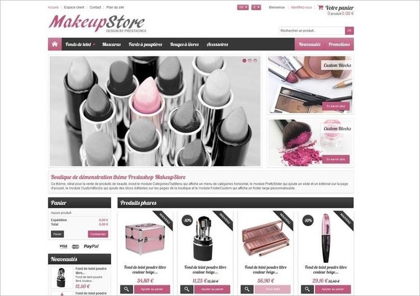 Responsive MakeupStore Template