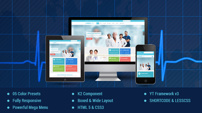 Responsive Medical & Healthcare Joomla Templates