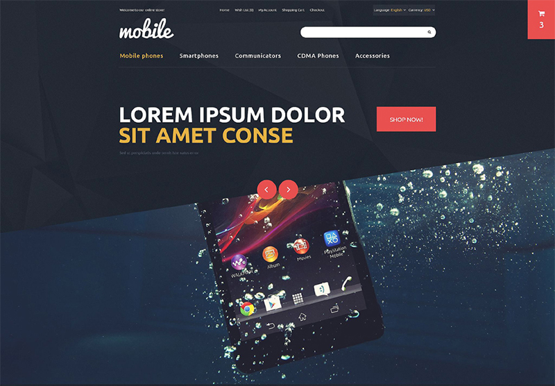 Responsive Mobile OpenCart Template