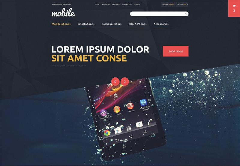 Responsive Mobile OpenCart Template