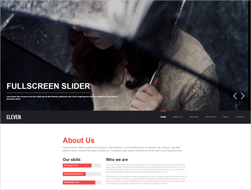 Responsive One Page HTML5CSS3 Template