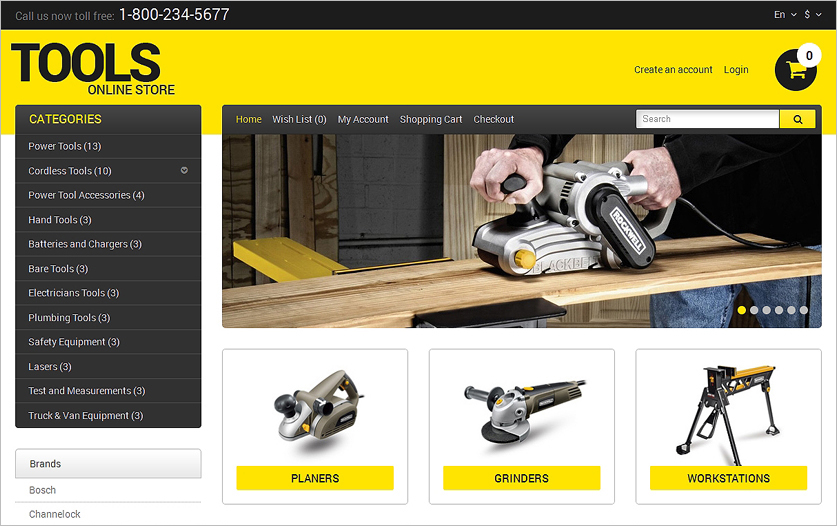 Responsive Online Store Web Template HTML5 & CSS3