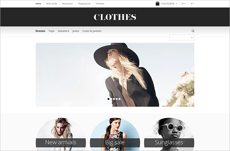 Responsive OpenCart Template Built On HTML5,CSS3&JQuery