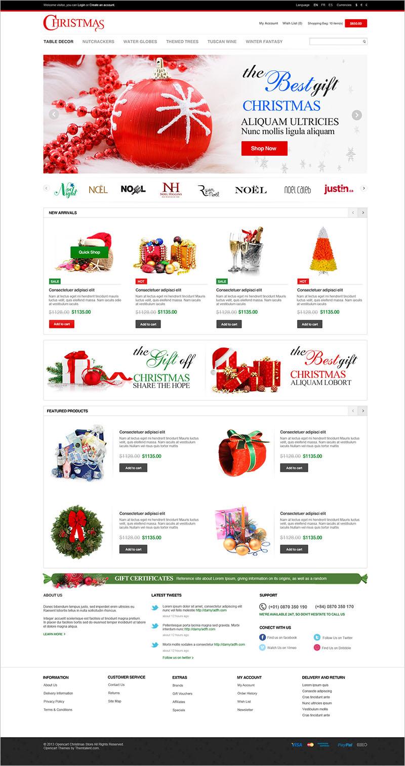Responsive Opencart Christmas Template
