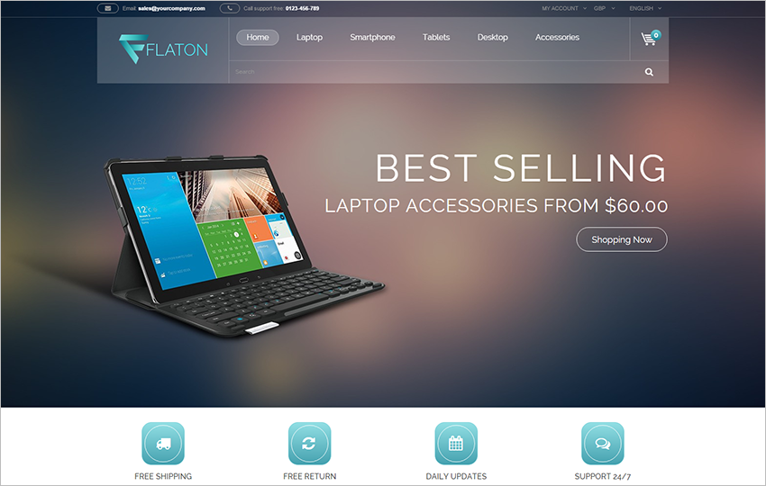 Responsive Prestashop Digital Gadgets Theme