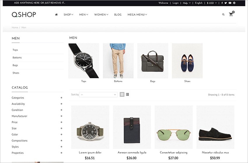 Responsive Prestashop Fashion Theme