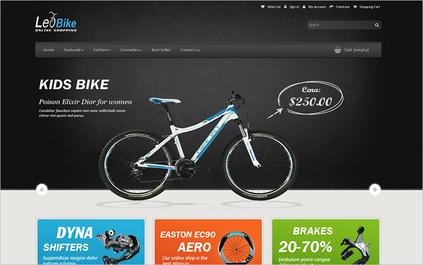 Responsive Prestashop Template With Multi Layouts