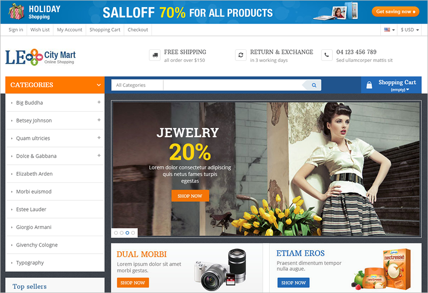 Responsive Prestashop Themes With HTML5 & CSS3