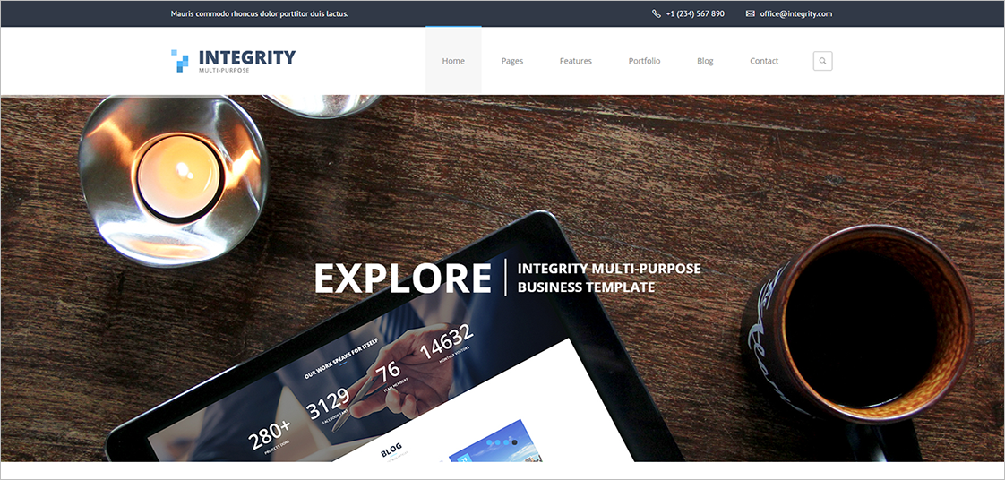 Responsive Professional Business HTML5 Template