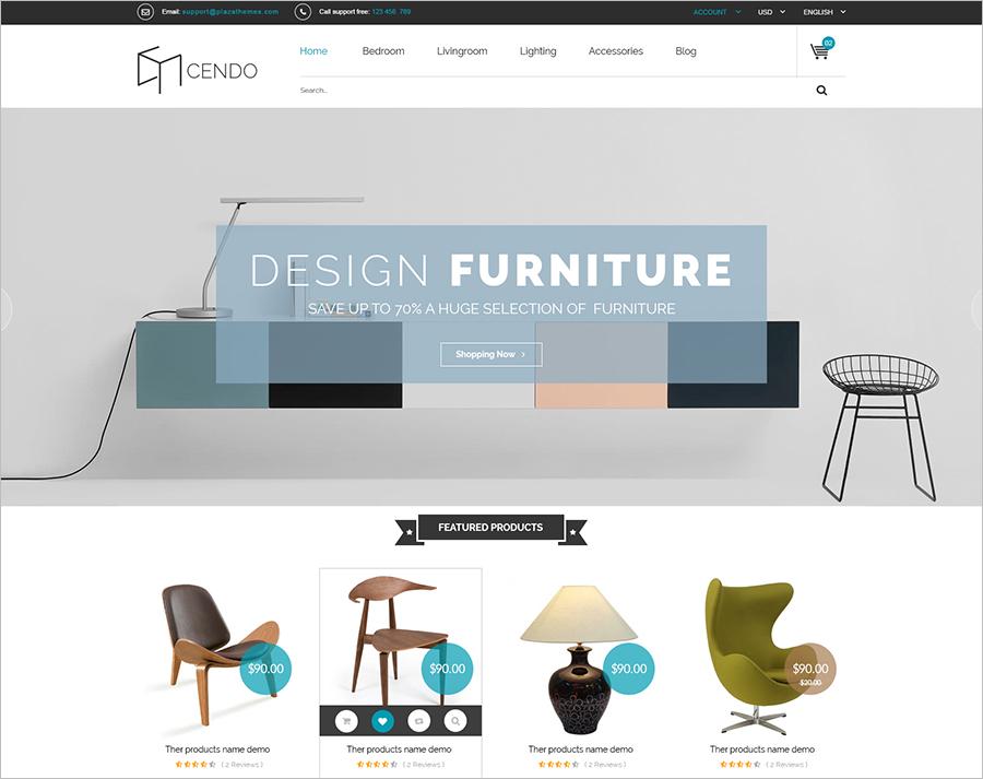Responsive & Retina Ready Furniture Magento Theme