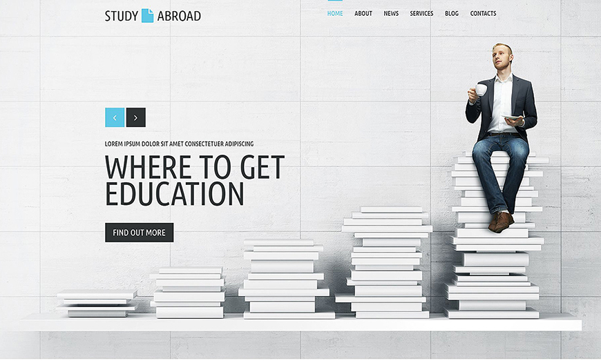 Responsive Study Abroad WebSite Template