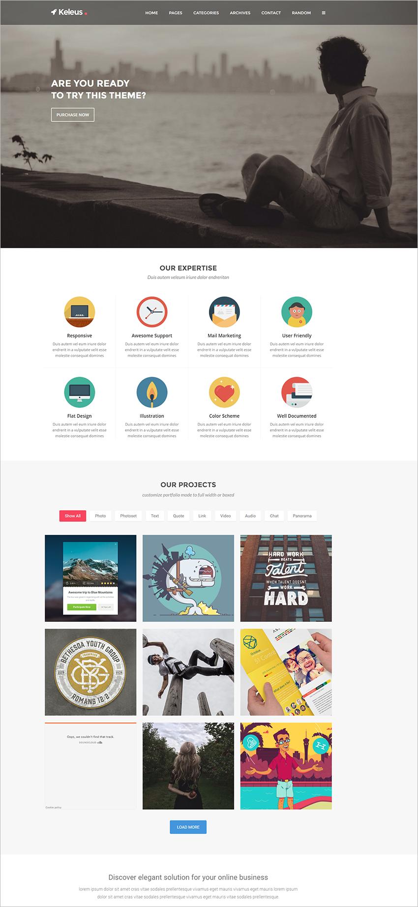 Responsive Tumblr Business Blogging Theme