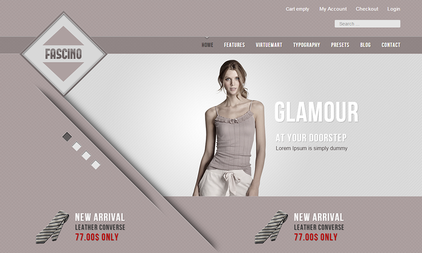 Responsive VirtueMart Template With Multi Colors