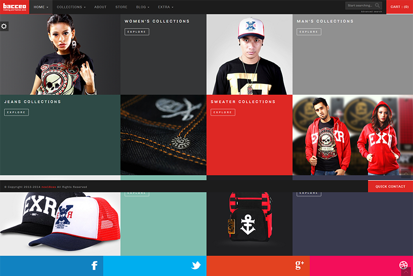Responsive eCommerce Template With Bootstrap & HTML Compatibility