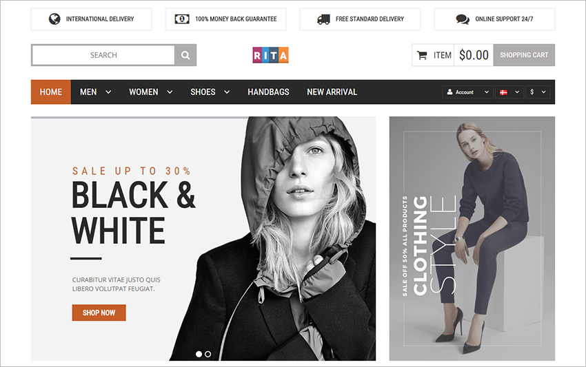 Responsive magento Online Fashion Store