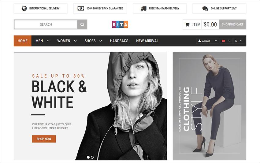 Responsive magento Online Fashion Store