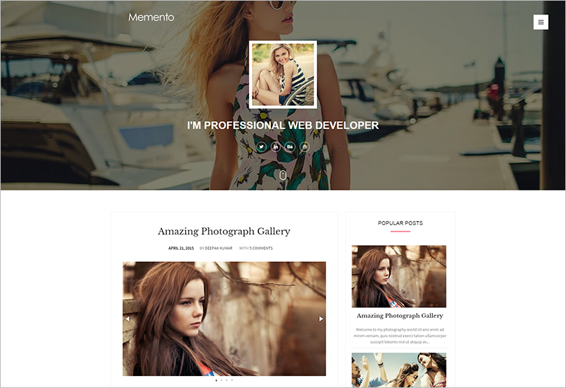 Responsoive Personal Blogger Template