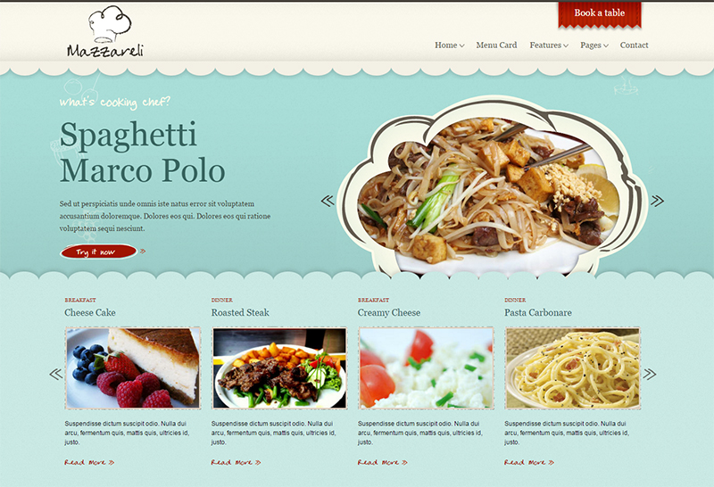 Restaurant & Cafe HTML Template