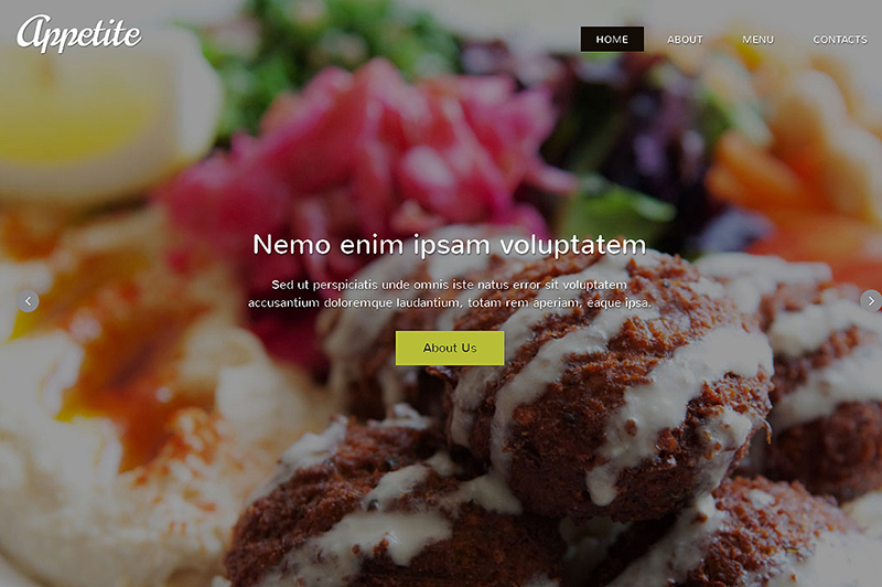 Restaurant Responsive One Page Theme