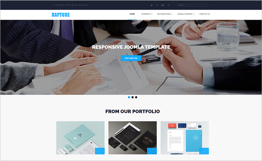 Retina Ready And Responsive Joomla Business Template