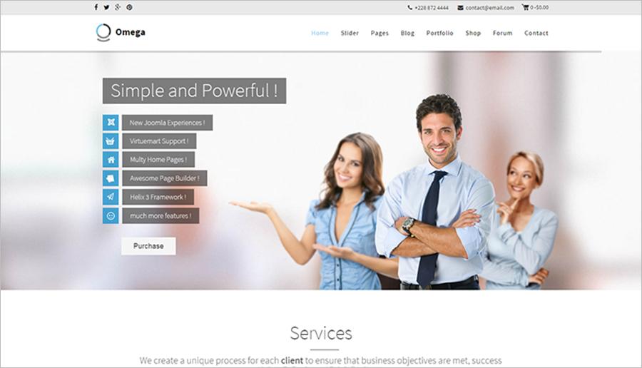 Retina Ready Multipurpose Business Joomla Template
